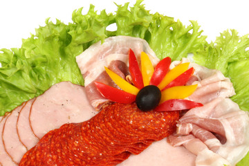 Ham, salami, bacon