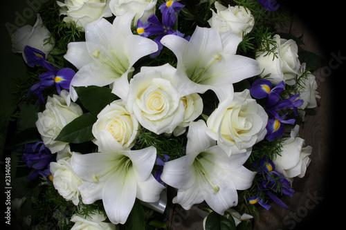 Foto op Aluminium Iris Funeral flowers for condolences