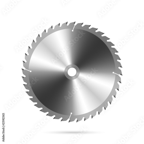 Circular saw blade. Vector.