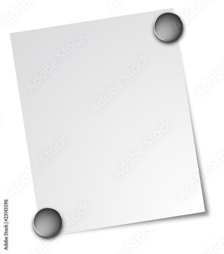 Notizzettel Magnet weiß