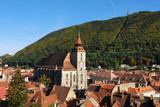 Medieval city Brasov, Transylvania, Romanai poster