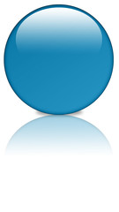 Basic Button blue mirror