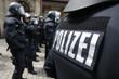 Leinwanddruck Bild - Polizeischutzkleidung