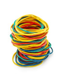 colored elastic bands poster