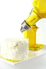 whole soft cheese in oil