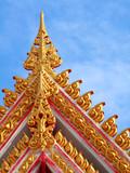 Thai style molding art poster