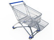 shopping cart empty 3d cg