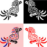 vector birds in traditional american indians' style
