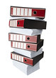 stack of papers documents register files office business