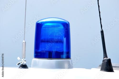 Blaulicht und Funkantennen