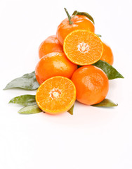 fresh mandarin fruits