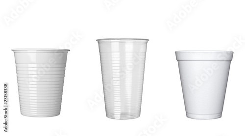 plastic cup of coffee dring beverage food office - 23158338