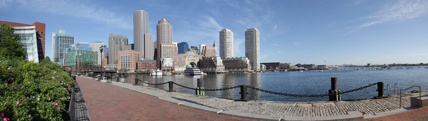 boston harbor skyline panorama