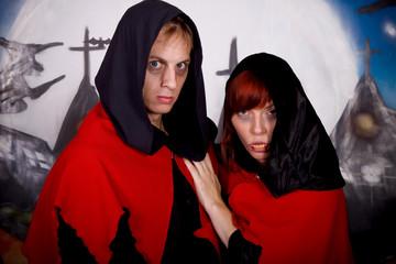 Halloween couple vampire