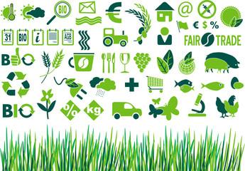 bio landwirtschaft symbole