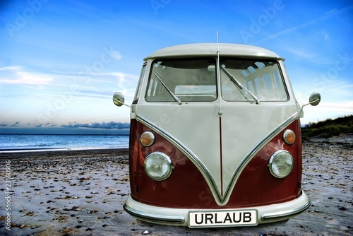canvas print picture Urlaubsbus