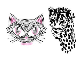 Leopardo e Gato