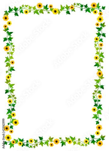 小さな花のフレーム