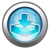 """Glossy 3D effect button """"Download"""""""