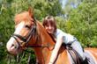 Kind und ihr Pony