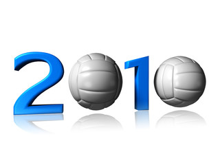 2010 volley logo on a white background