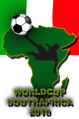 Italy Fan Worldcup Illustration