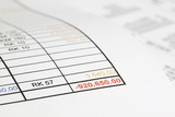 Red figures in the debts poster