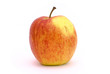 One red and yellow apple
