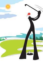 Golf shadow man