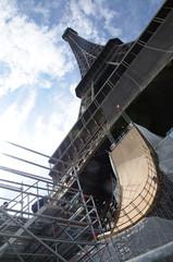 Saut de la Tour Eiffel en roller
