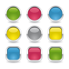 metalic glossy buttons