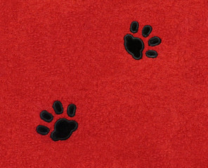 Cat Pawprints on Fabric