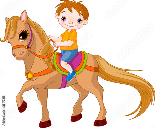 Poster Pony Boy on horse