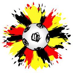Fresh german soccer ball - Deutscher Fussball