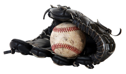 isolated baseball glove with clip-path
