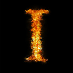 Flame in shape of letter I