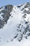 Extrem-Freerider in steiler Rinne poster