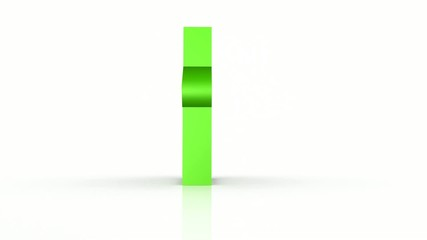simbolo casa animato verde