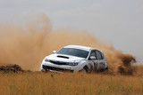 Rally car in mud