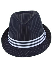 black & white fedora hat for the jazz evening