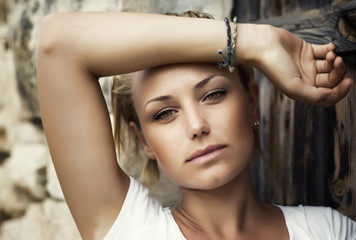 Portrait of Beautiful fashion girl