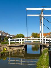 Drawbridge in Marken, Netherlands