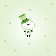 """Tiny Dude"" dressed up with hat for st. patricks day"