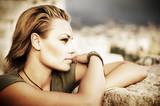 Stylish Portrait of Beautiful Model
