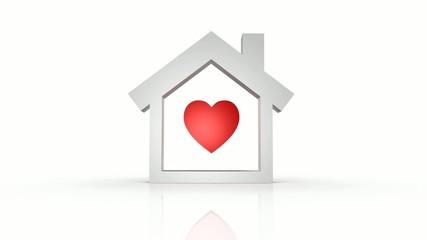animazione casa simbolo amore