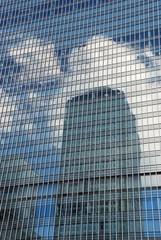 skyscraper reflection, Canary Wharf