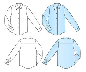 Outline shirt vector illustration isolated on white