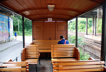 Parkeisenbahn Waggon Holz