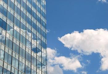 reflection in a skyscraper, London
