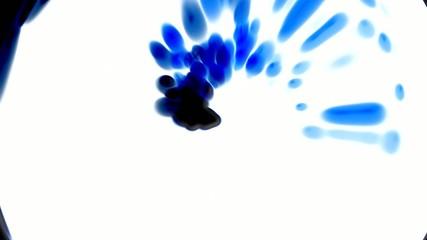 rotation blue ink,circle drops,particle